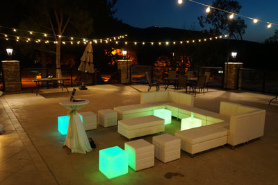 White Lounge Furniture Rental, Wedding Reception Furniture