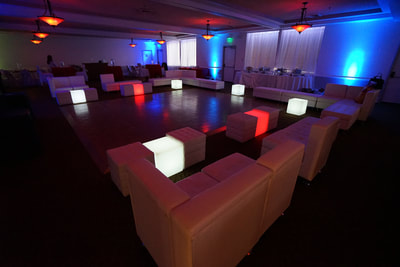 LED Cube, Lounge Furniture Rentals San Diego