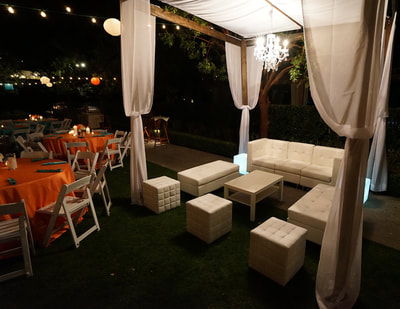 White Lounge Furniture Rental, Wedding Reception Furniture Rentals